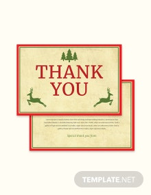 Free Christmas Special Thank You Card Template