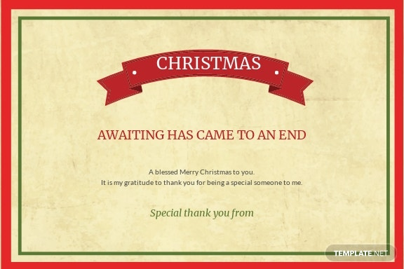 Free Christmas Special Thank You Card Template 1.jpe