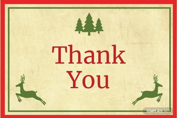 Christmas Special Thank You Card Template