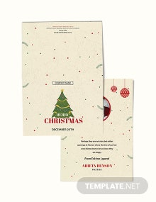 Free Christmas Bonus Thank You Card Template