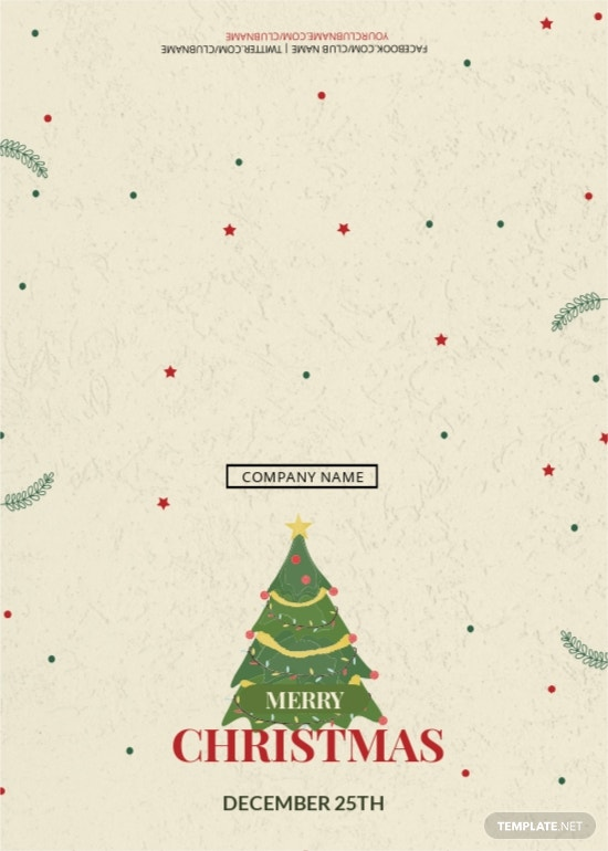 Christmas Bonus Thank You Card Template