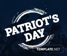 Free Patriot's Day Facebook Cover Template