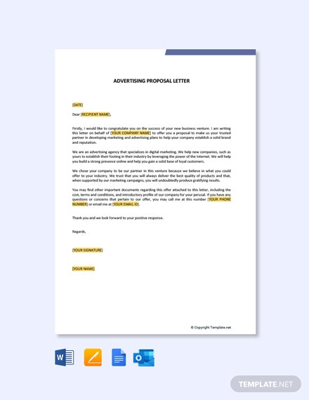 Free Advertising Proposal Letter