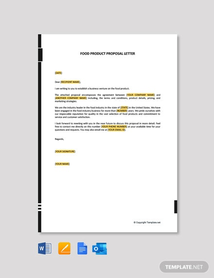 Food Product Proposal Letter