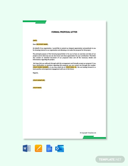 Formal Proposal Letter Template
