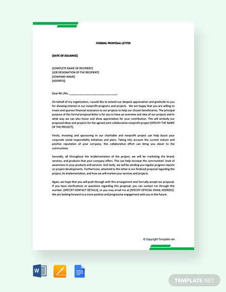 FREE Formal Proposal Letter Template: Download 2538+ Letters in Word