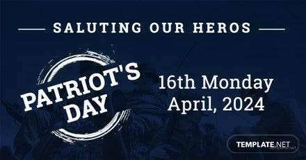 Free Patriot's Day Facebook Post Template