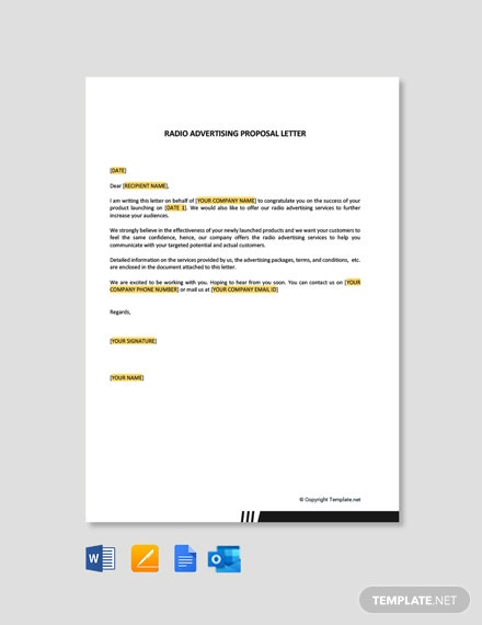 Radio Advertising Proposal Letter Template