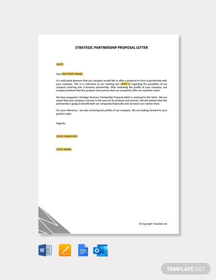 Strategic Partnership Proposal Letter Template