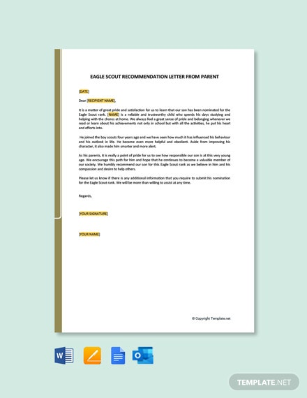Eagle Scout Recommendation Letter Samples from images.template.net