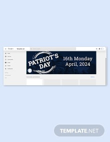 Patriot's Day Google Plus Cover Template