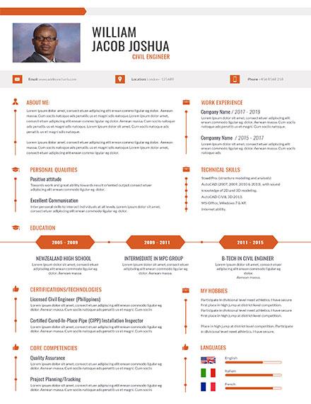Printable Civil Engineer Resume