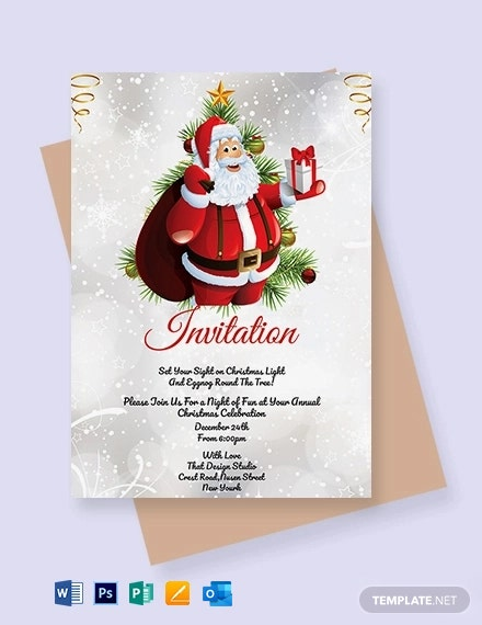 Free Simple Christmas Invitation Template