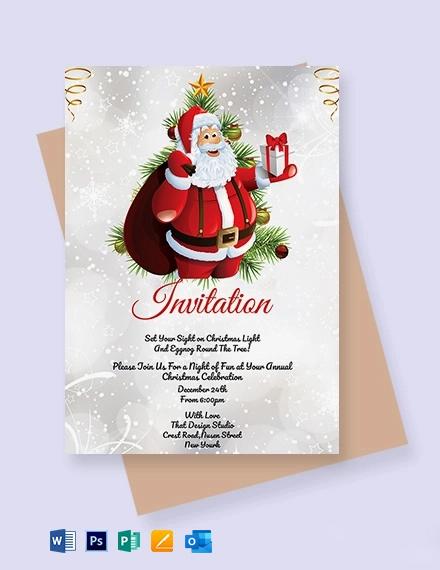 Free Simple Christmas Invitation Template
