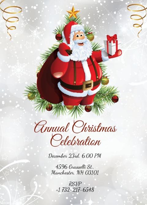 Simple Christmas Invitation Template