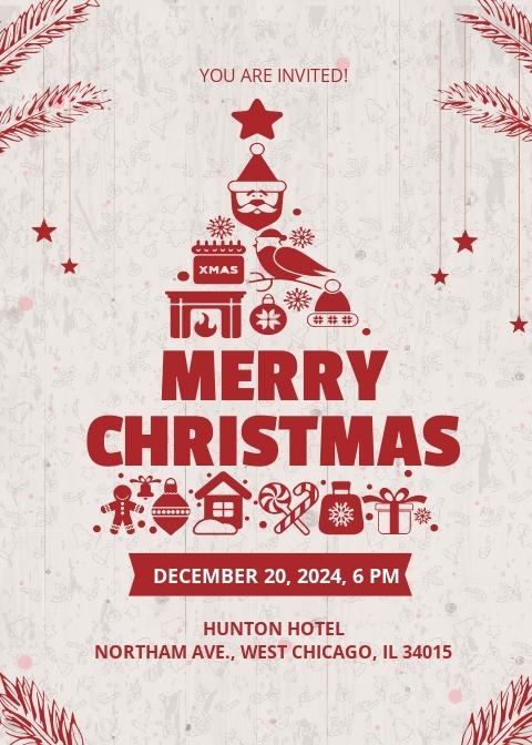 Free Creative Christmas Invitation Template