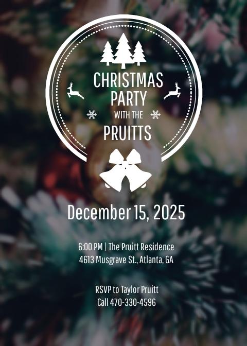 Free Minimal Christmas Invitation Template.jpe