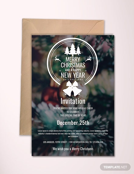 Free Minimal Christmas Invitation Template