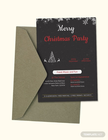 Free Creative Christmas Party Invitation Template
