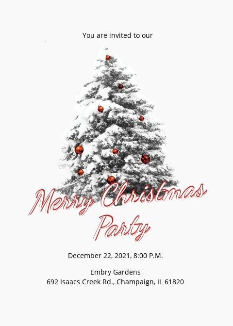 Simple Merry Christmas Invitation Template