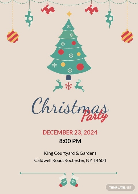 Modern Christmas Party Invitation Template