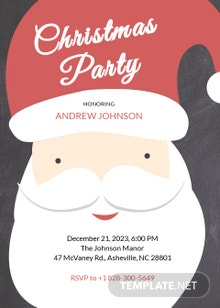 Free Christmas Party Creative Invitation Template