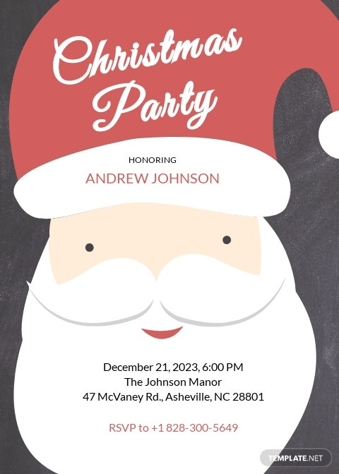 Christmas Party Creative Invitation Template