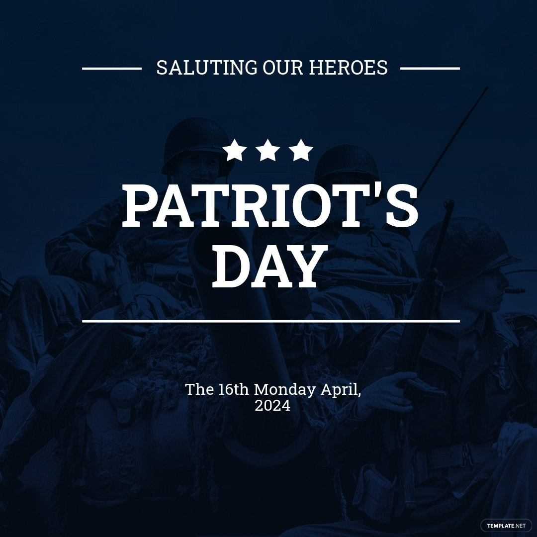 Patriot's Day Instagram Post Template