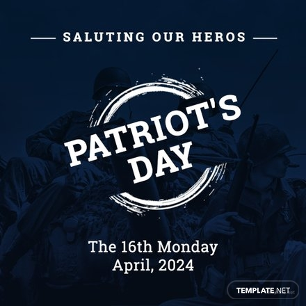 Free Patriot's Day Instagram Post Template