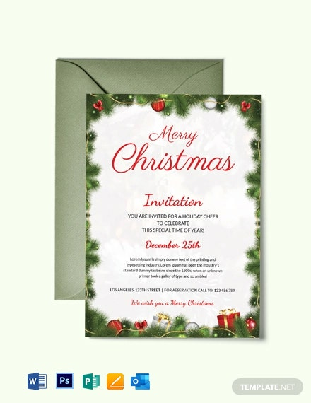 Simple Christmas Party Invitation
