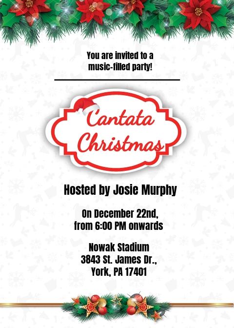 Cantata Christmas Invitation Template