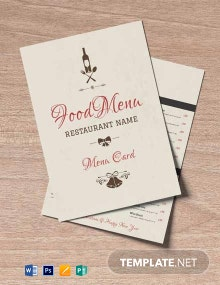 Free Vintage Christmas Menu Template