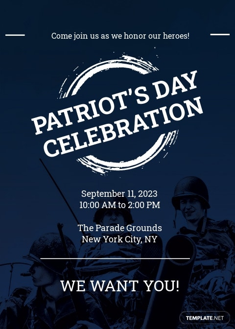 Patriot's Day Invitation Template