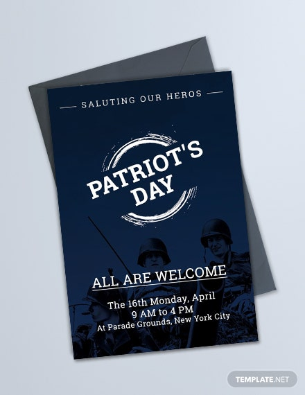 Free Patriot's Day Invitation Template