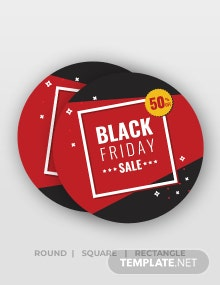 Free Black Friday Discount Stickers Template