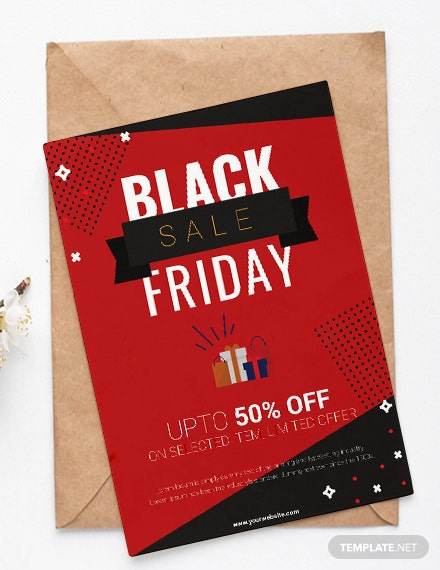 Free Black Friday Shopping Party Invitation Template