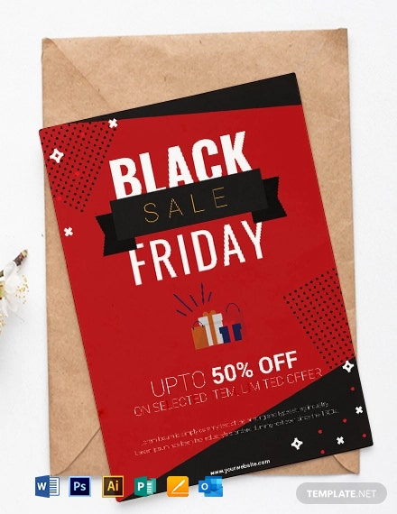 Black Friday Shopping Party Invitation Template