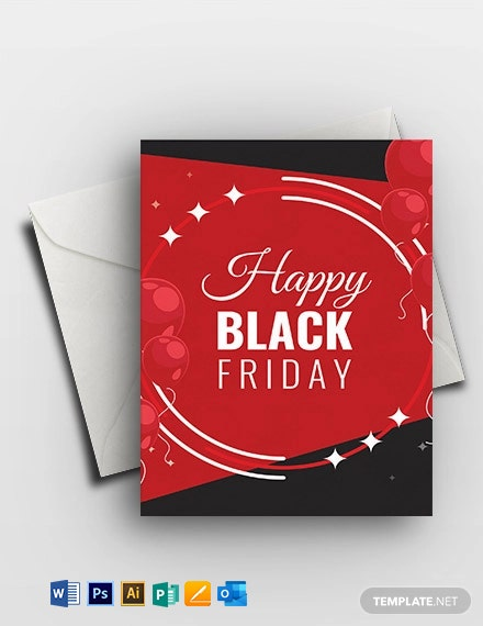 Happy Black Friday Greeting Card Template