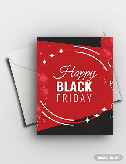 Free Happy Black Friday Greeting Card Template