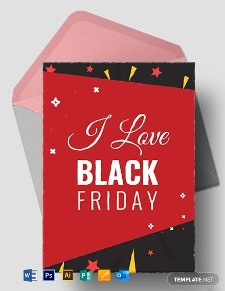 I Love Black Friday Greeting Card