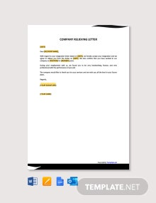 Free Company Relieving Letter