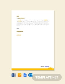 Free Decline Real Estate Offer Letter