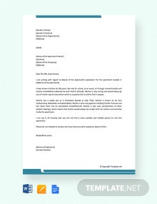 Free Reference Letter for Apartment