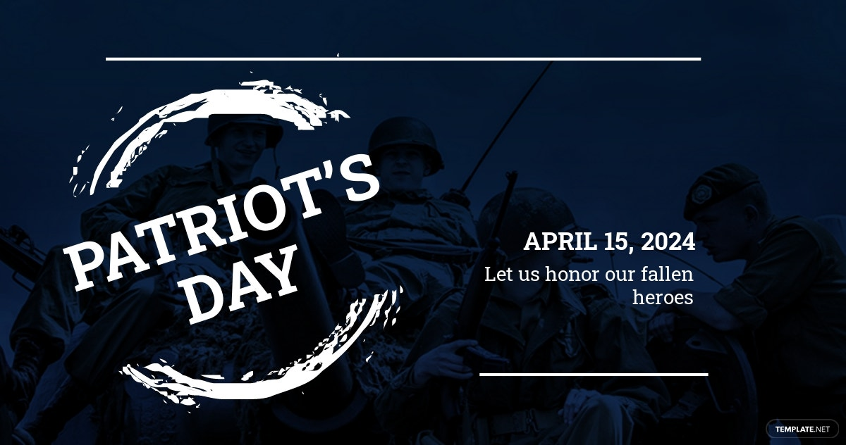 Patriot's Day LinkedIn Post Template