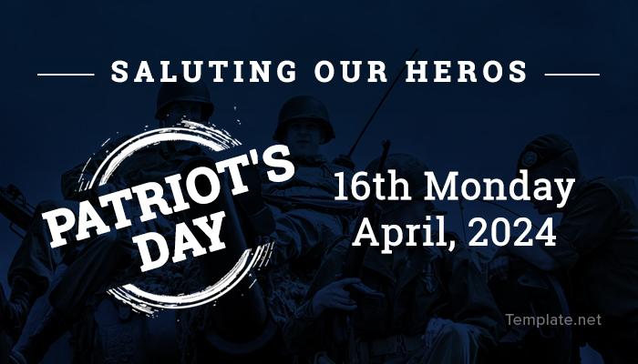 Free Patriot's Day LinkedIn Post Template