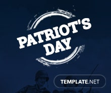 Free Patriot's Day LinkedIn Post Template