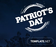 Free Patriot's Day LinkedIn Profile banner Template