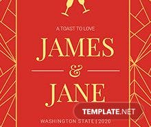 Free Newlyweds Wedding Label Template