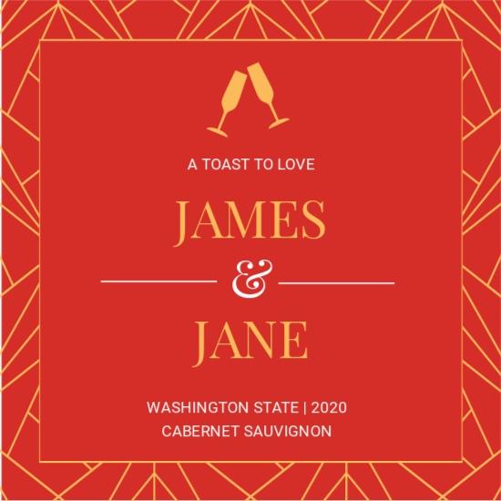 Newlyweds Wedding Label Template.jpe