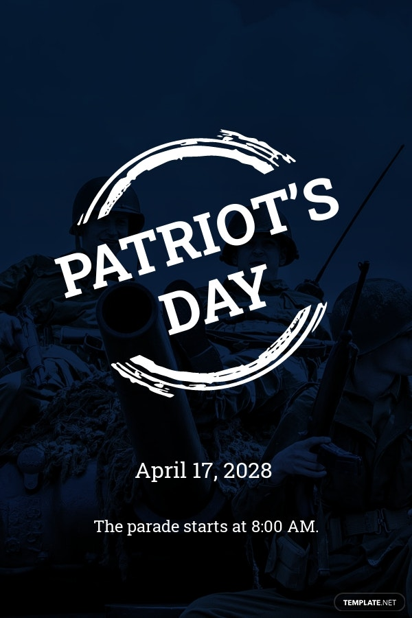 Patriot's Day Pinterest Pin Template